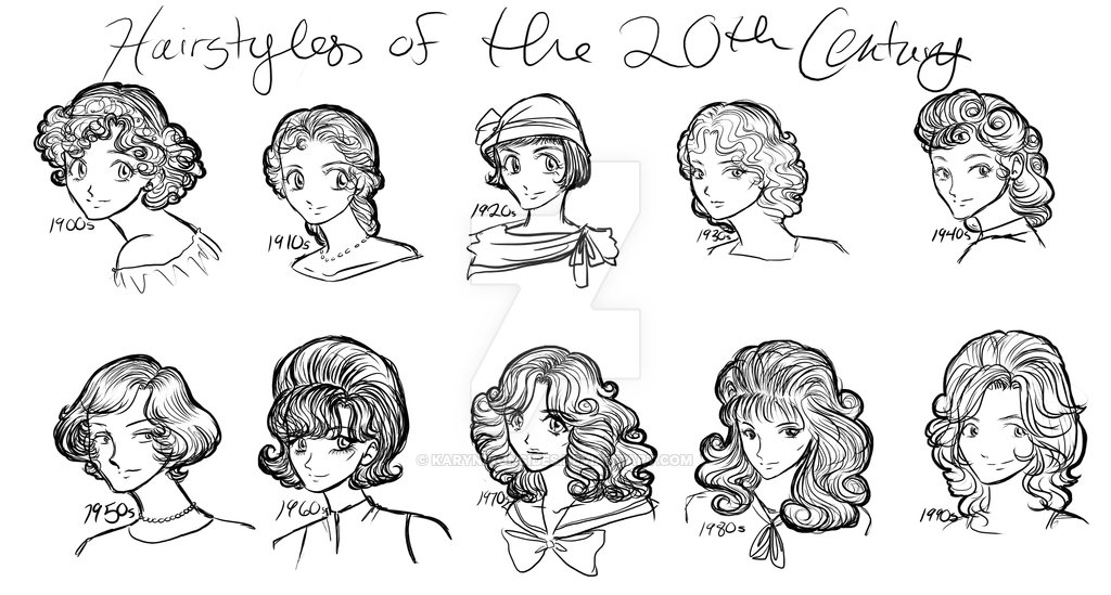 The Best Hairstyles Of The 20Th Century By Karynironsides On Deviantart Pictures