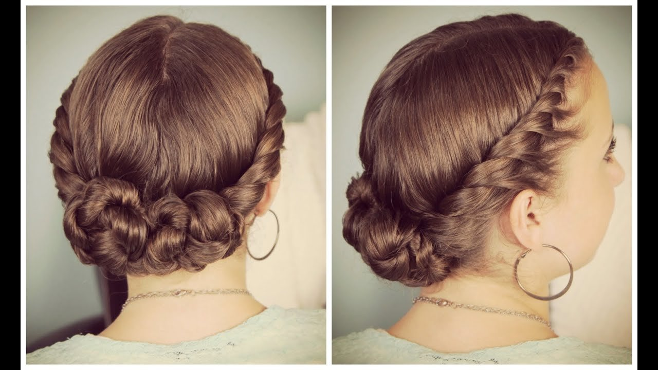 The Best Double Twist Bun Updo Youtube Pictures