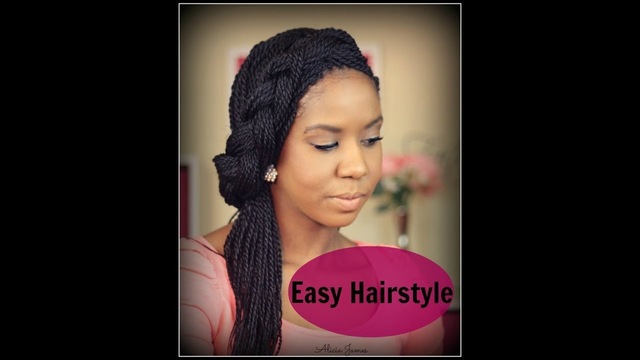 The Best Easy Hairstyle Spring Half Updo With Braid Senegalese Pictures