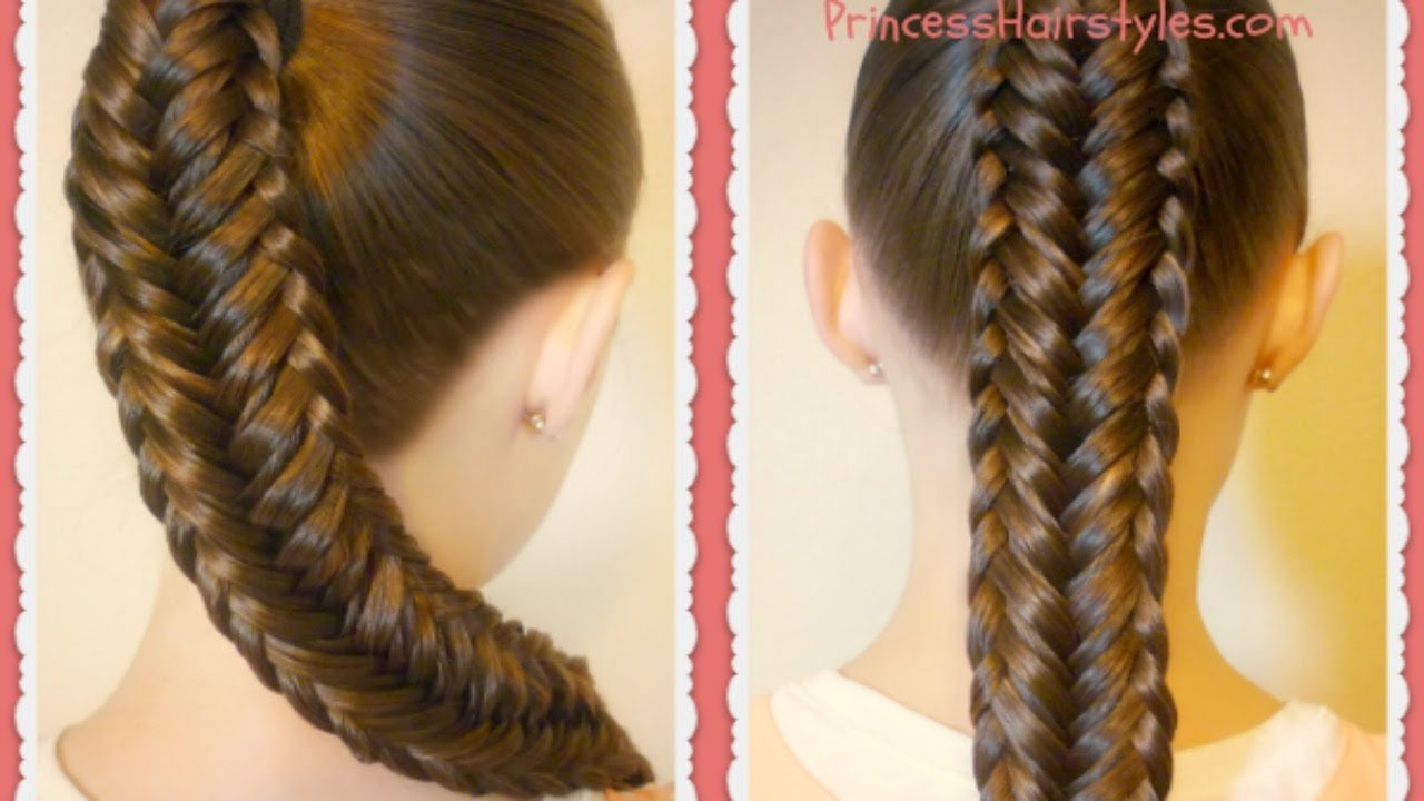 The Best Twisted Edge Fishtail Braid Hair Tutorial Youtube Pictures