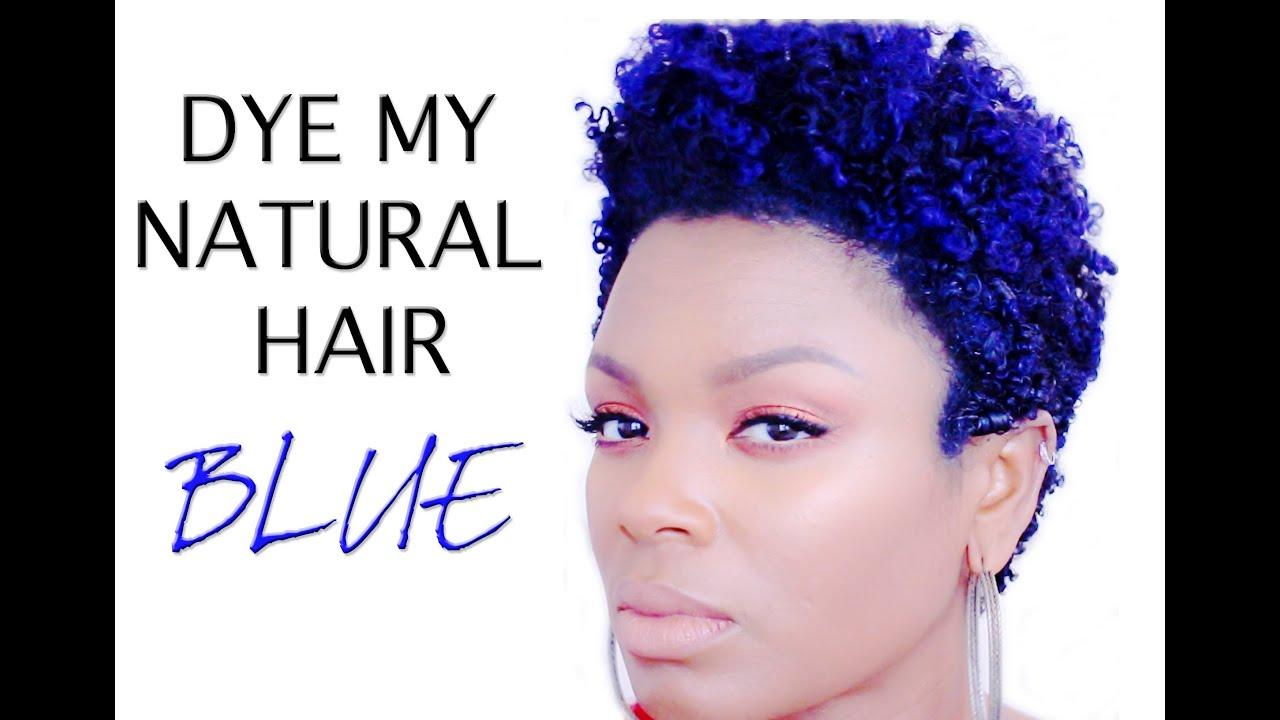 The Best Natural Hair How I Dye Blue Hair Youtube Pictures