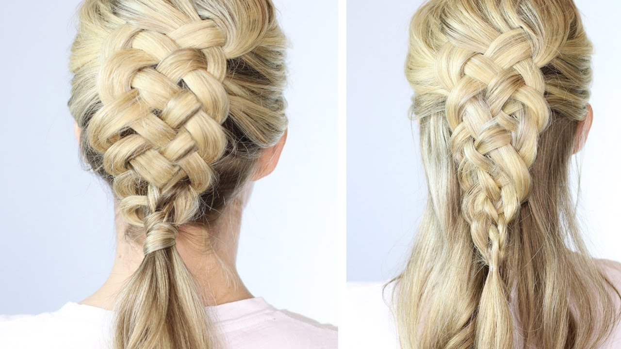 The Best 5 Strand Dutch Braid On Yourself Easy Youtube Pictures