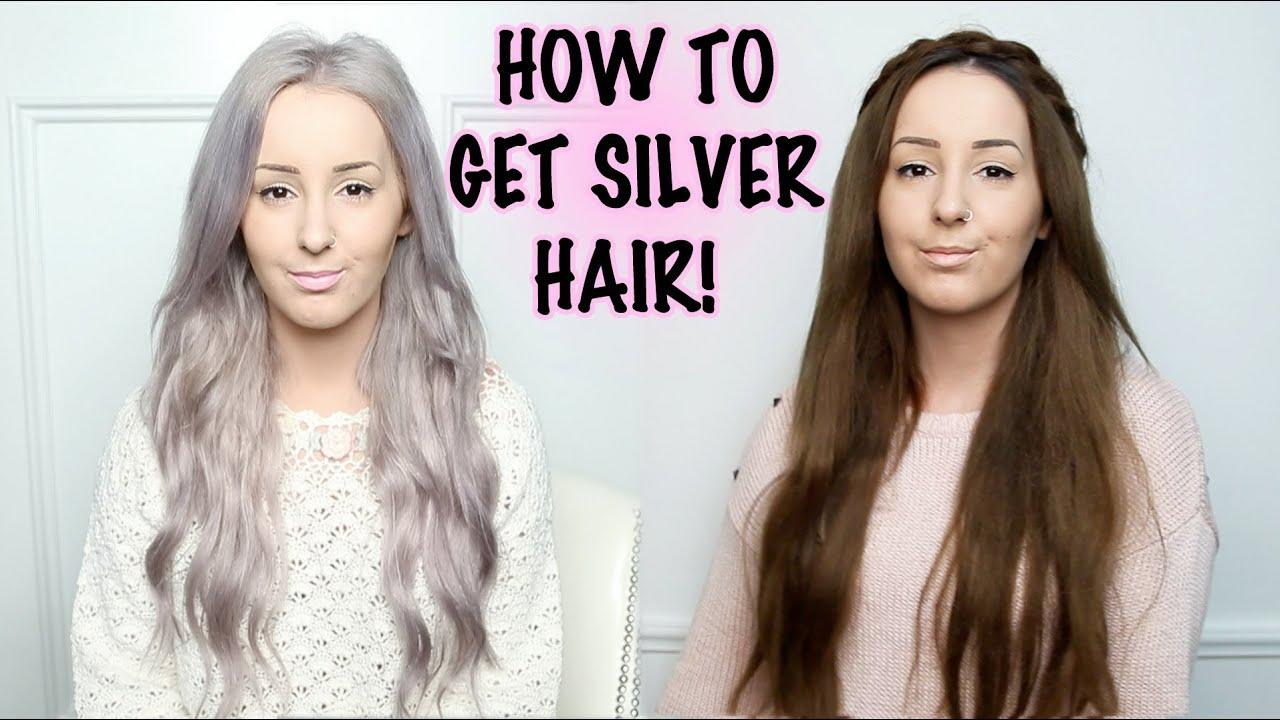 The Best How To Silver Hair Tutorial By Tashaleelyn Youtube Pictures
