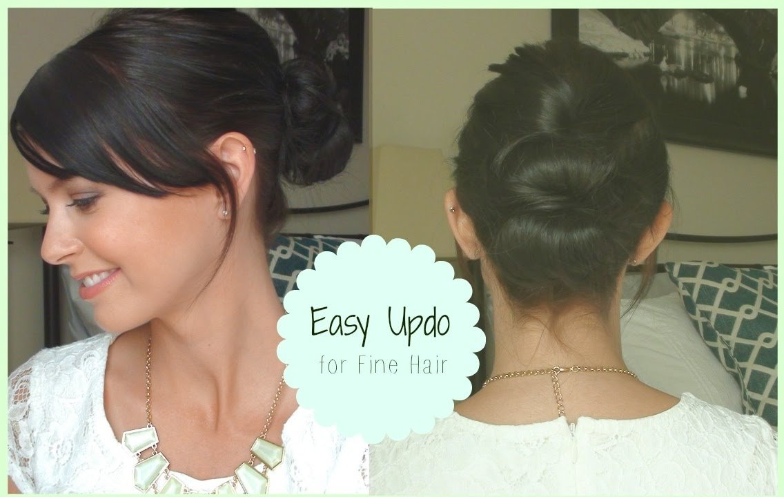 The Best Easy Updo For Fine Hair Youtube Pictures