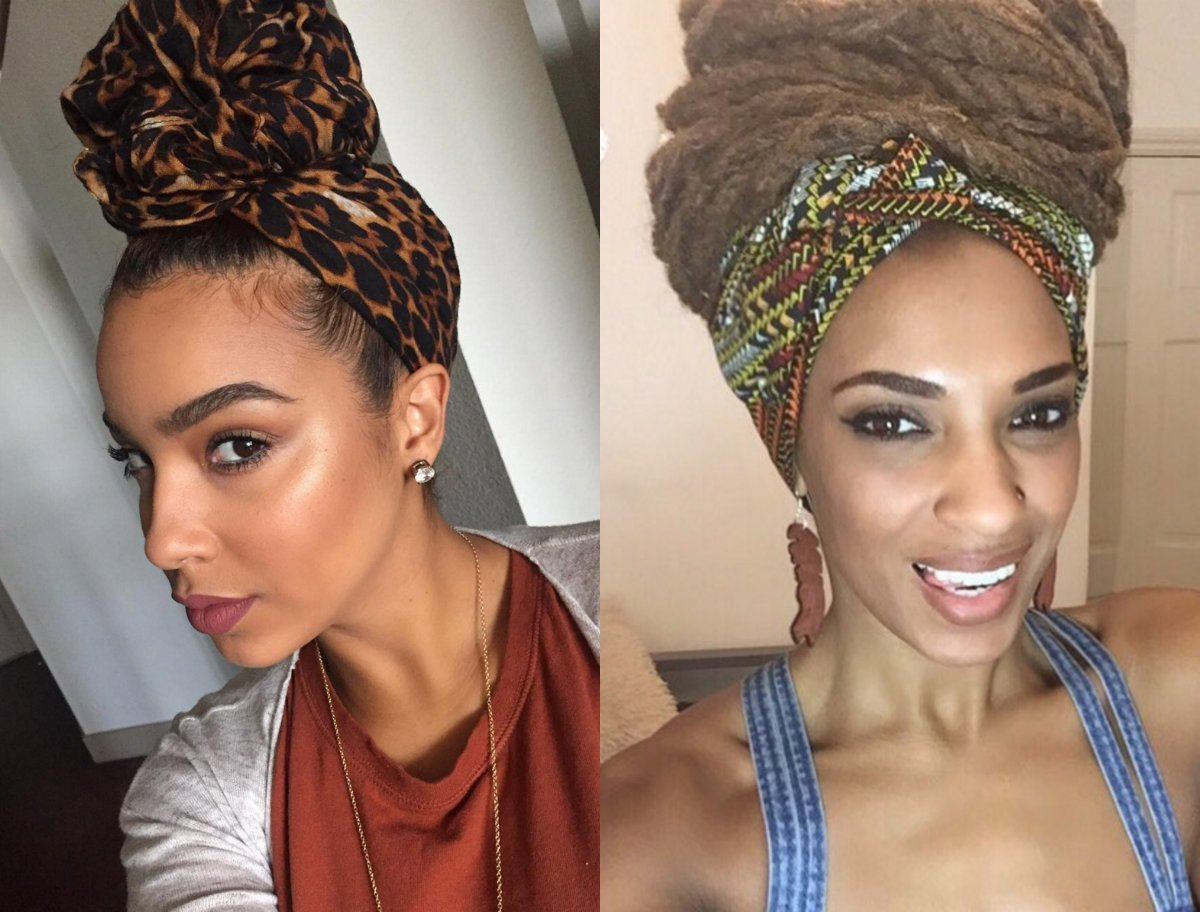 The Best Black Women Hairstyles With Head Wraps To Show Off Pictures