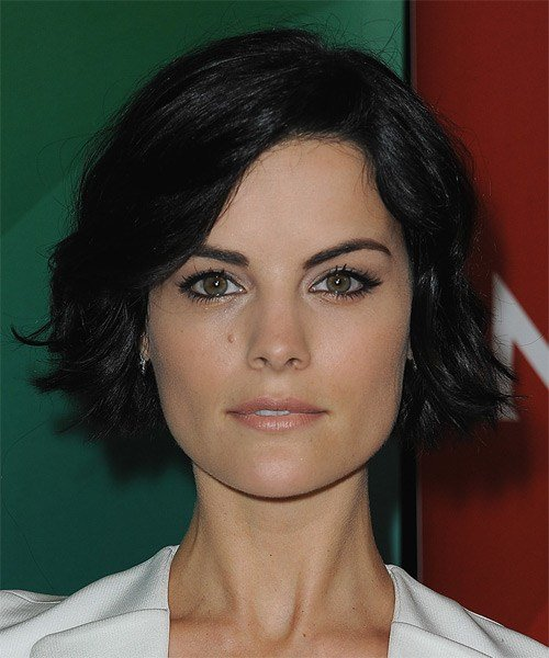 The Best Jaimie Alexander Medium Wavy Casual Hairstyle Black Hair Pictures