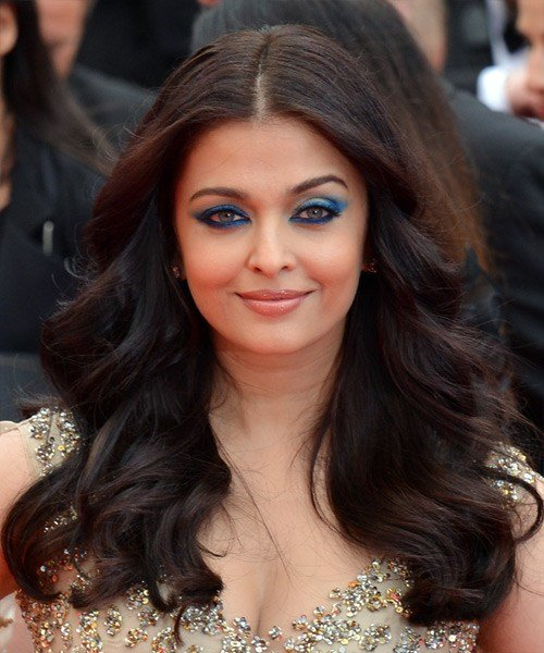The Best Aishwarya Rai Long Wavy Formal Hairstyle Black Hair Color Pictures