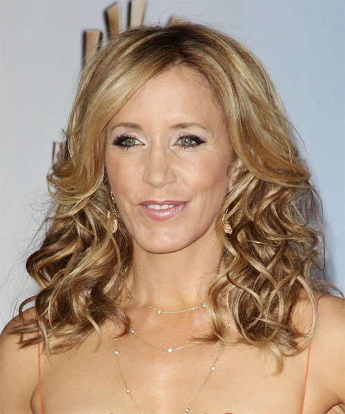 The Best Felicity Huffman Medium Curly Formal Hairstyle Golden Pictures