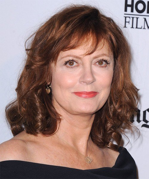 The Best Susan Sarandon Medium Wavy Casual Hairstyle With Layered Pictures