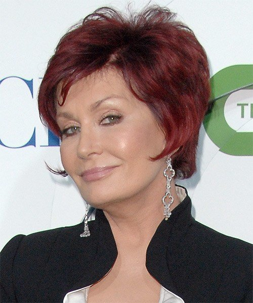 The Best Sharon Osbourne Short Straight Formal Hairstyle Light Pictures