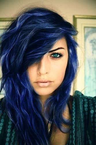The Best Blue Black Hair Tips And Styles Dark Blue Hair Dye Styles Pictures