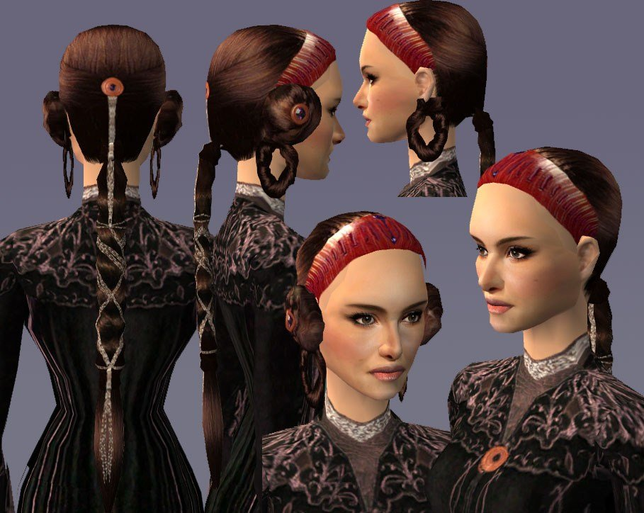 The Best Mod The Sims The Revelationgown Hairstyle For Padme Pictures