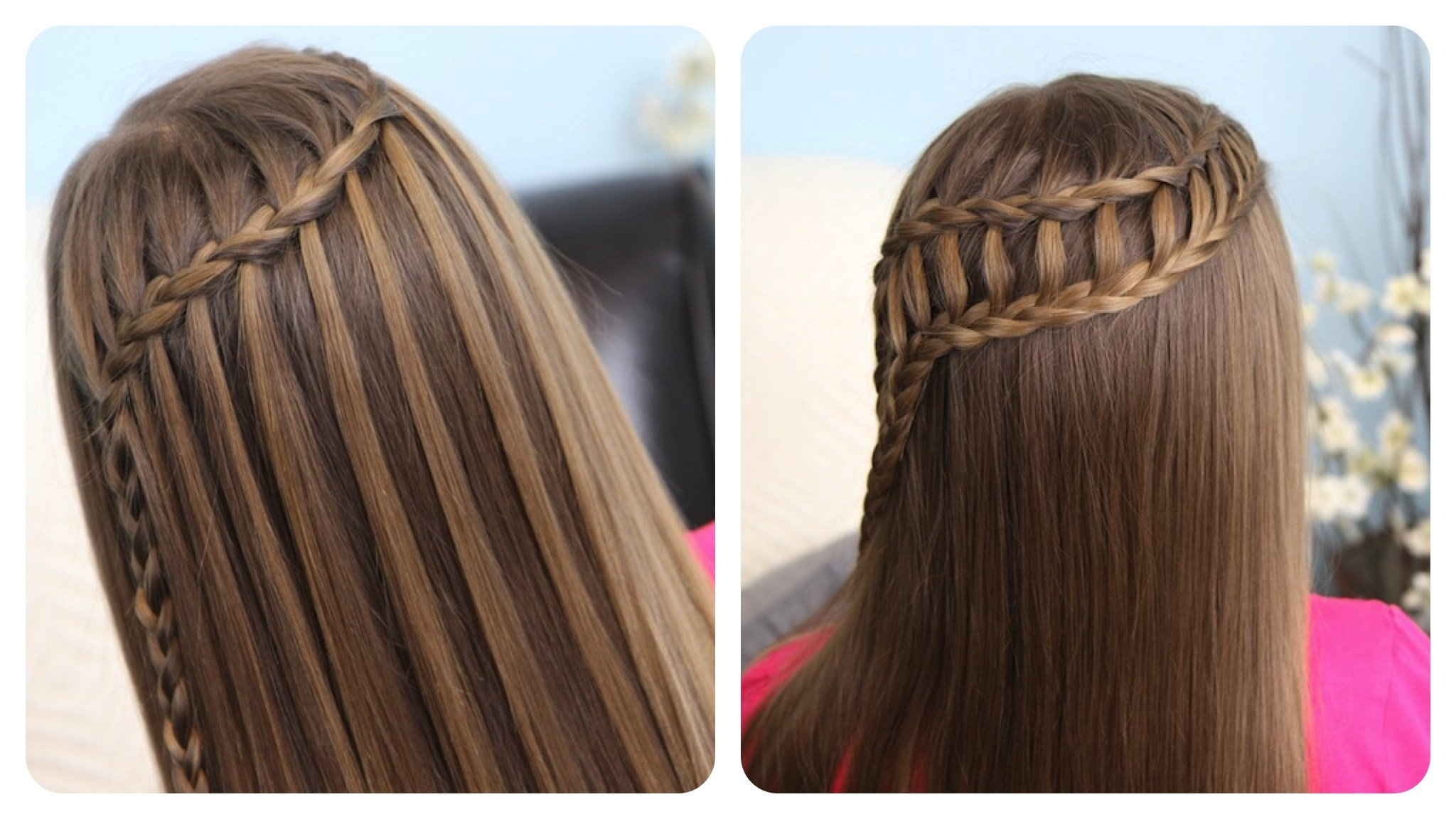 The Best Feather Waterfall Ladder Braid Combo 2 In 1 Hairstyles Pictures