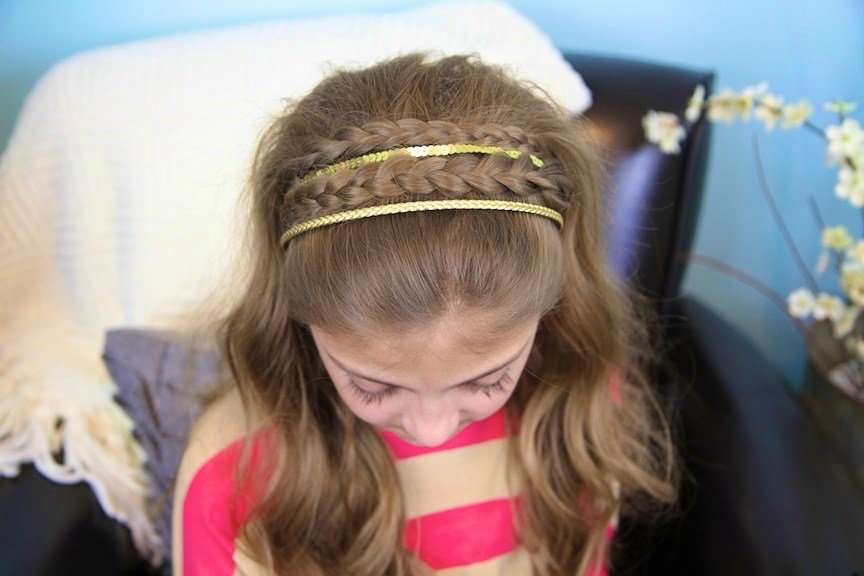 The Best Double Braid Sparkly Headband Braided Headbands Cute Pictures
