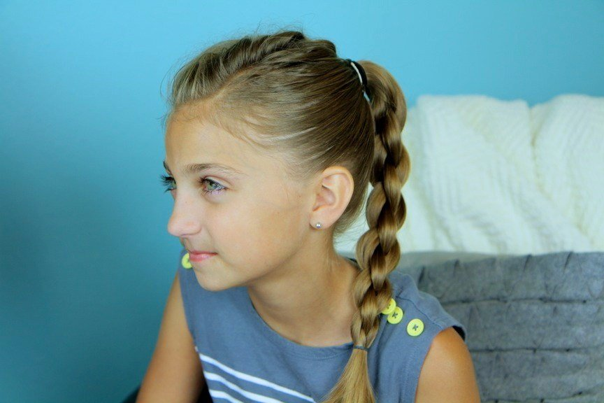 The Best Single Frenchback Into Round Braid Back To School Pictures