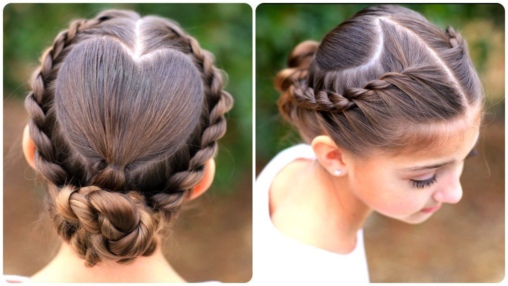 The Best Rope Braided Heart Valentine S Day Hairstyles Cute Pictures