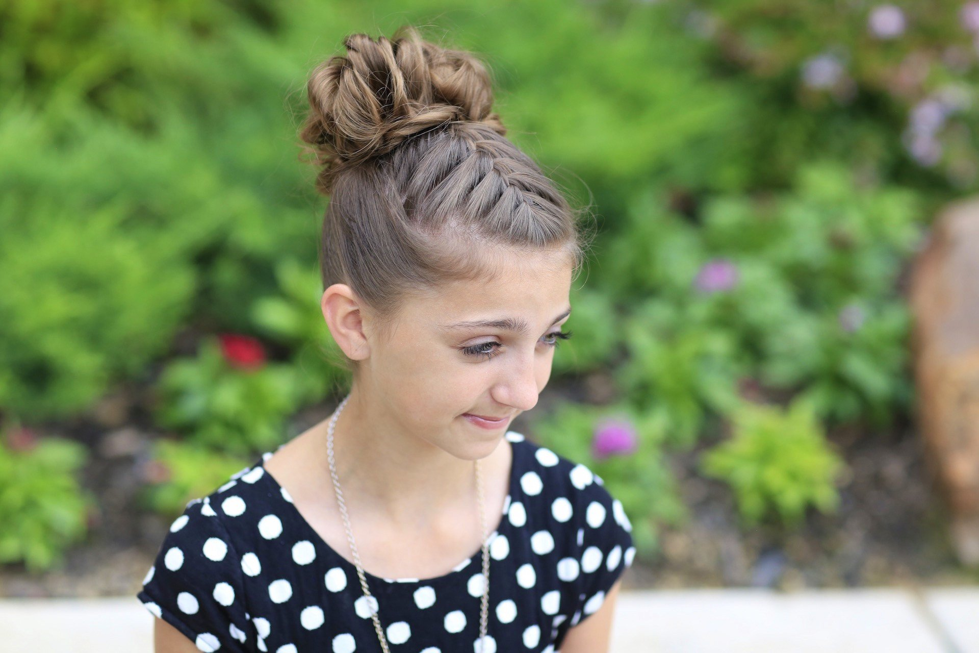 The Best Double French Messy Bun Updo Cute Girls Hairstyles Pictures