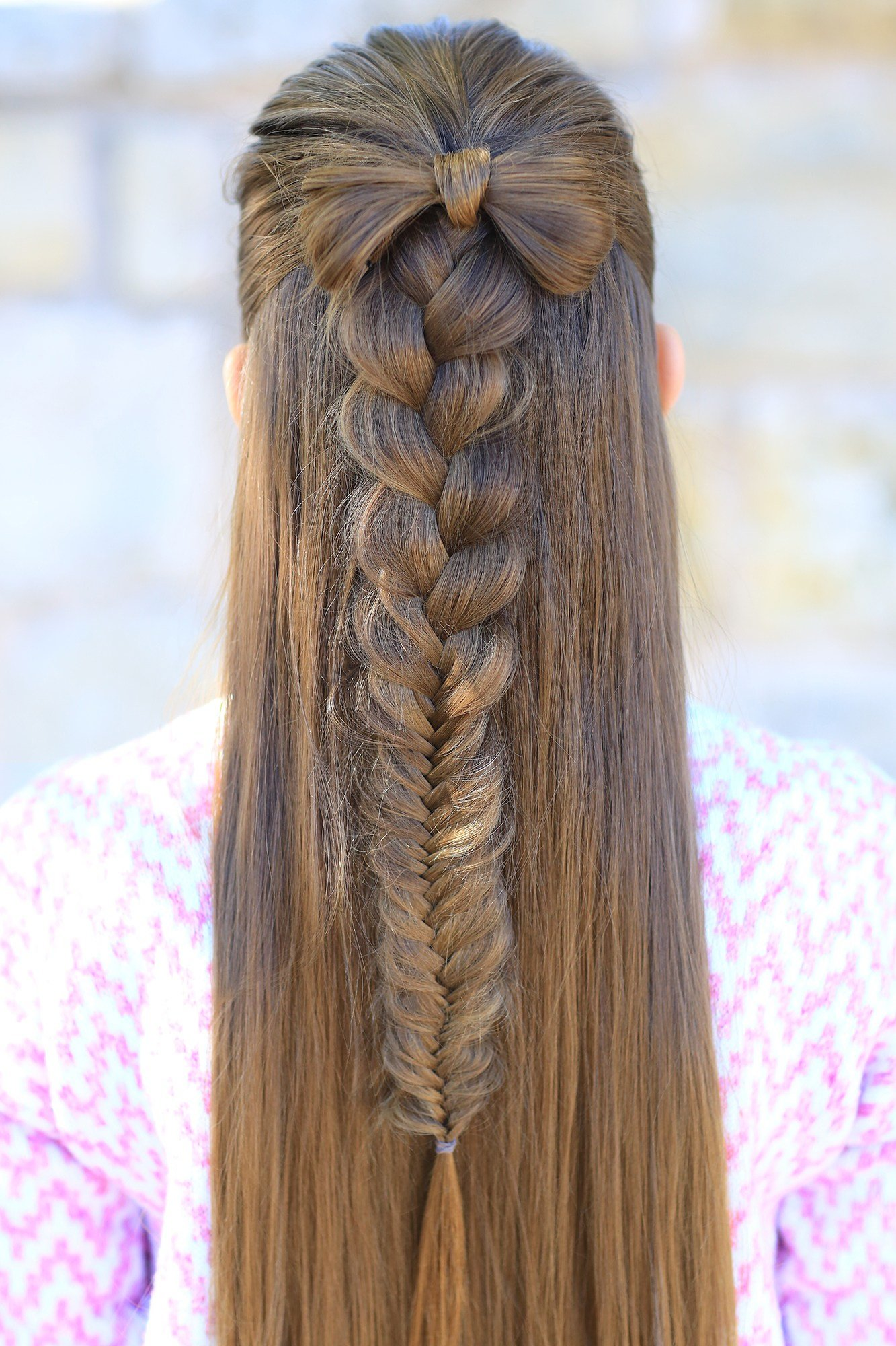 The Best Half Up Bow Combo Cute Girls Hairstyles Pictures