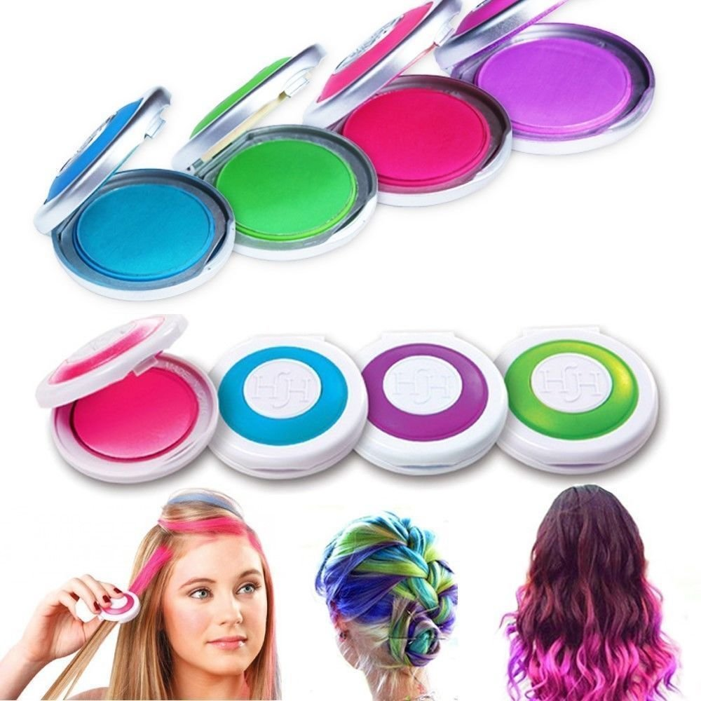 The Best 4 Colors Non Toxic Temporary Easy Diy Hair Chalks Dye Pastels Salon Kit Washable Ebay Pictures