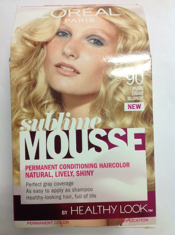 The Best L Oreal Sublime Mousse By Healthy Look Hair Color Pure Light Blonde 90 Ebay Pictures