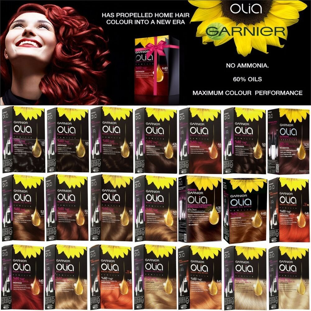 The Best Garnier Olia Oil Powered Permanent Color Hair Dye 21 Different Shades Choise Ebay Pictures