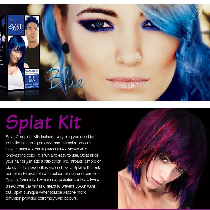 The Best Splat Rebellious Colors Blue Envy Hair Dye Complete Kit Pictures