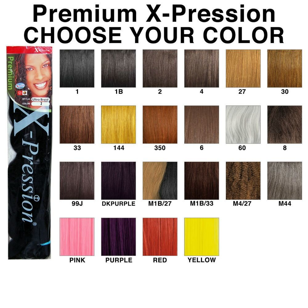 The Best Premium X Pression Ultra Braid 82 Synthetic Braiding Hair Choose Your Color Ebay Pictures