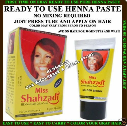 The Best 2 Henna Instant Hair Color Cream Tube Golden Brown Usa Ebay Pictures