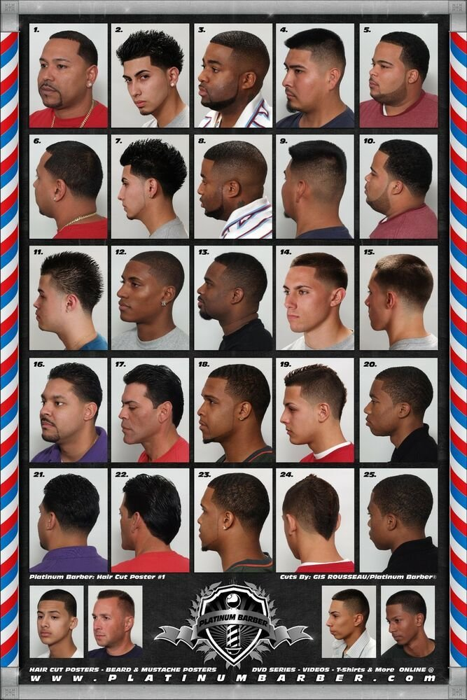 The Best 24 X 36 Barber Shop Salon Modern Hair Cut Styling For Men Pictures