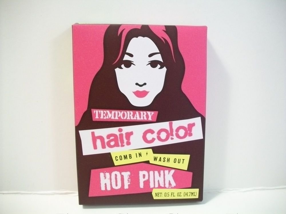 The Best Temporary Hair Color In Hot Pink Comb In Wash Out Ebay Pictures