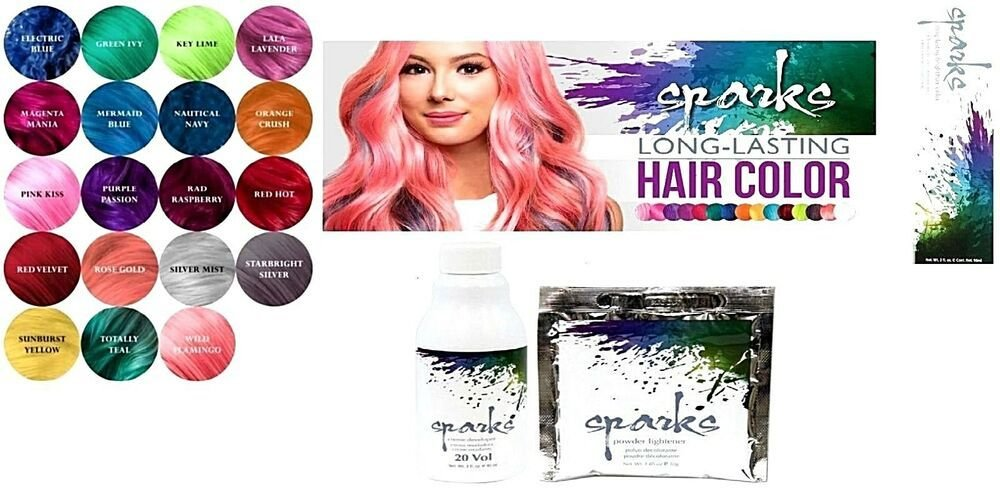 The Best Sparks Long Lasting Bright Hair Color Dye Choose A Pictures