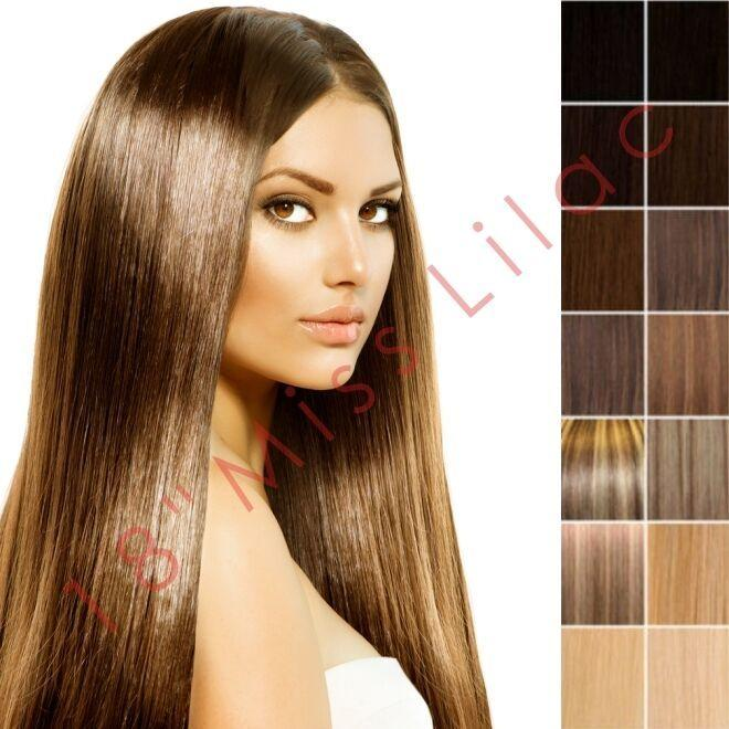 The Best 100 Remy Human Hair Extensions 18 Full Head Weft Ebay Pictures