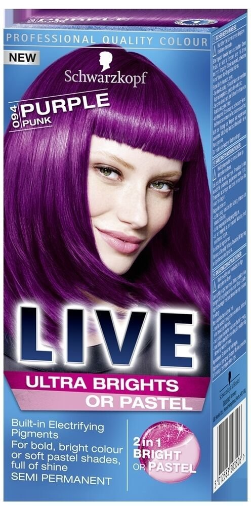 The Best Schwarzkopf Live Ultra Brights 094 Purple Punk Semi Pictures