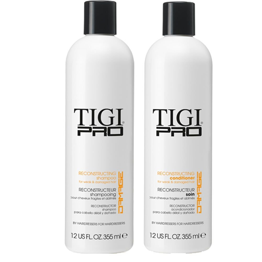 The Best Tigi Pro Reconstructing Shampoo Conditioner Fine Dry Damaged Colored Hair Repair Ebay Pictures