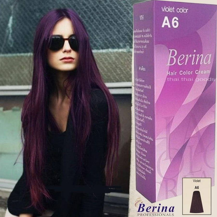 The Best Berina A6 Purple Violet Permanent Hair Dye Color Cream Pictures