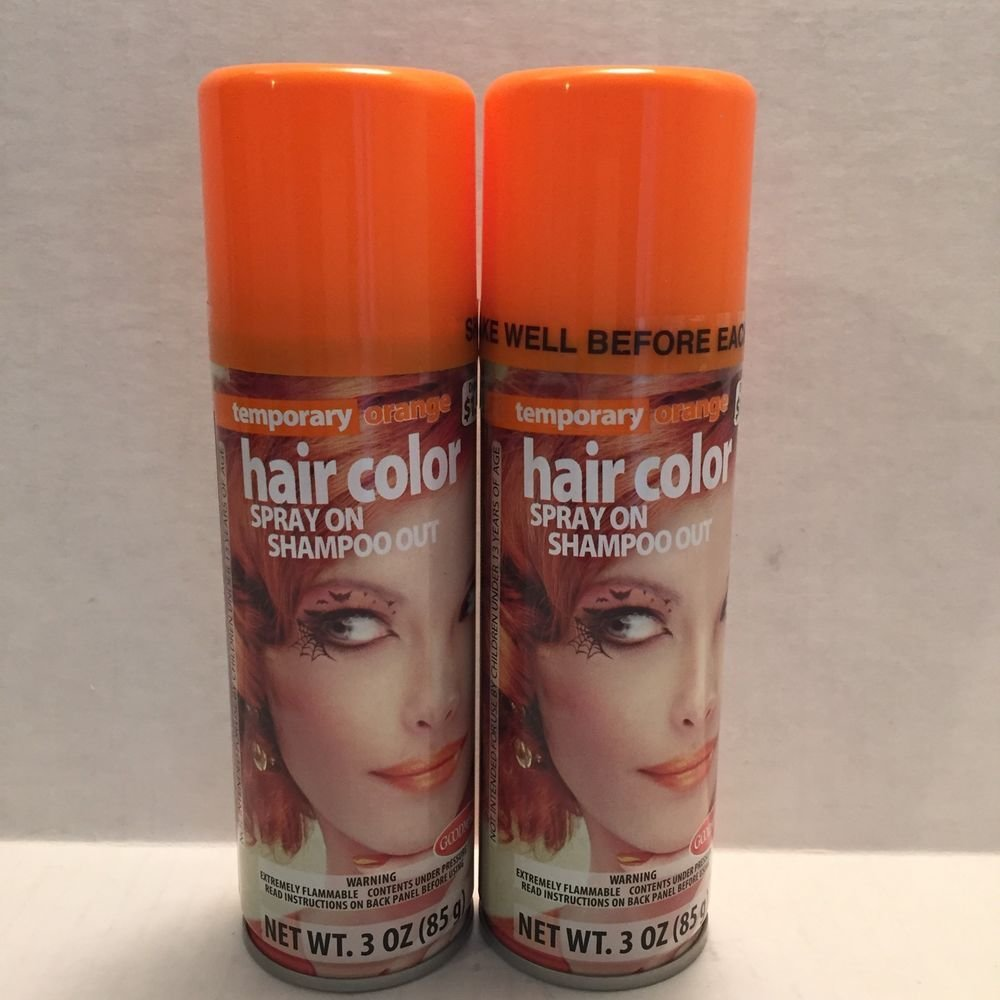 The Best 2 Orange Temporary Hair Color Hairspray Wash Out College Pictures