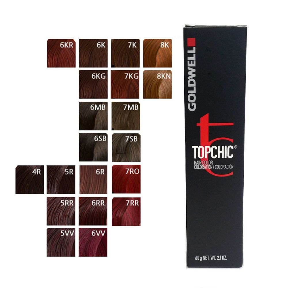 The Best Goldwell Topchic Permanent Hair Color Tubes 2 1 Oz Red Pictures