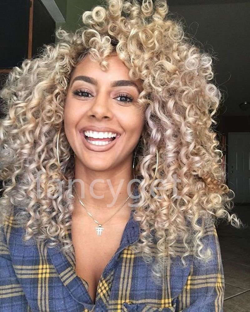 The Best 100 Brazilian Human Hair Wigs K*Nky Curly Blonde Lace Pictures