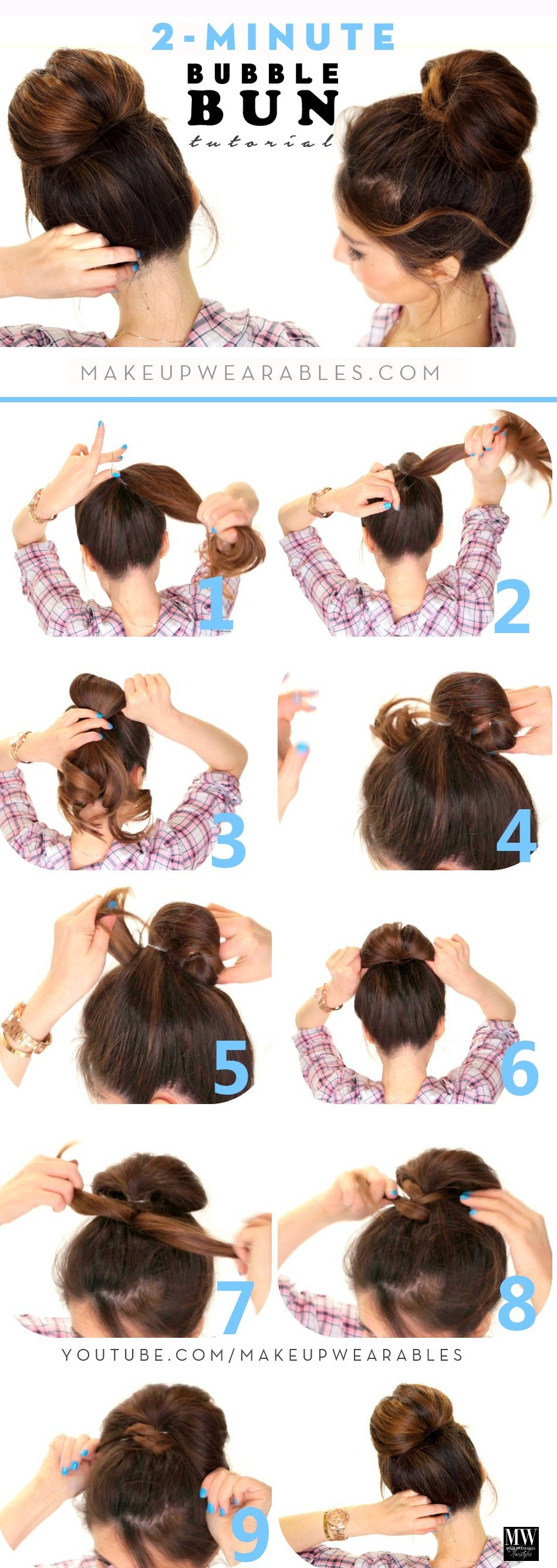 The Best How To Quick Easy Fan Bun Hairstyle For Medium Long Hair Pictures