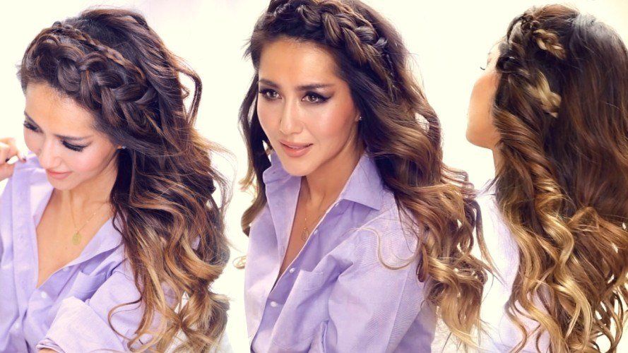 The Best 3 Big Headband Braids With Curls Everyday Hairstyles Pictures