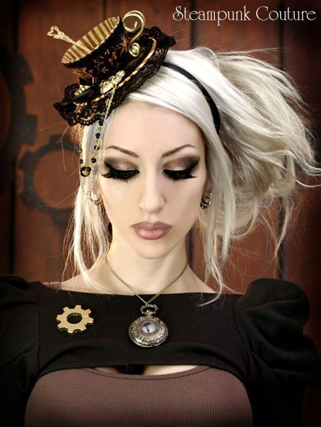 The Best Steampunk Hairstyles Teas Parties Hats Steampunk Couture Steampunk Fashion Hair Makeup Pictures