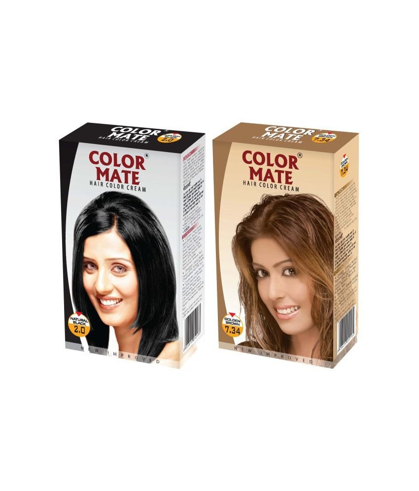 The Best Color Mate Hair Color Cream Natural Black Golden Brown Buy Color Mate Hair Color Cream Pictures