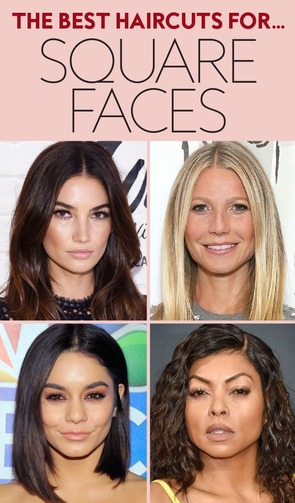 The Best Haircuts For Square Shaped Faces Instyle Com Pictures