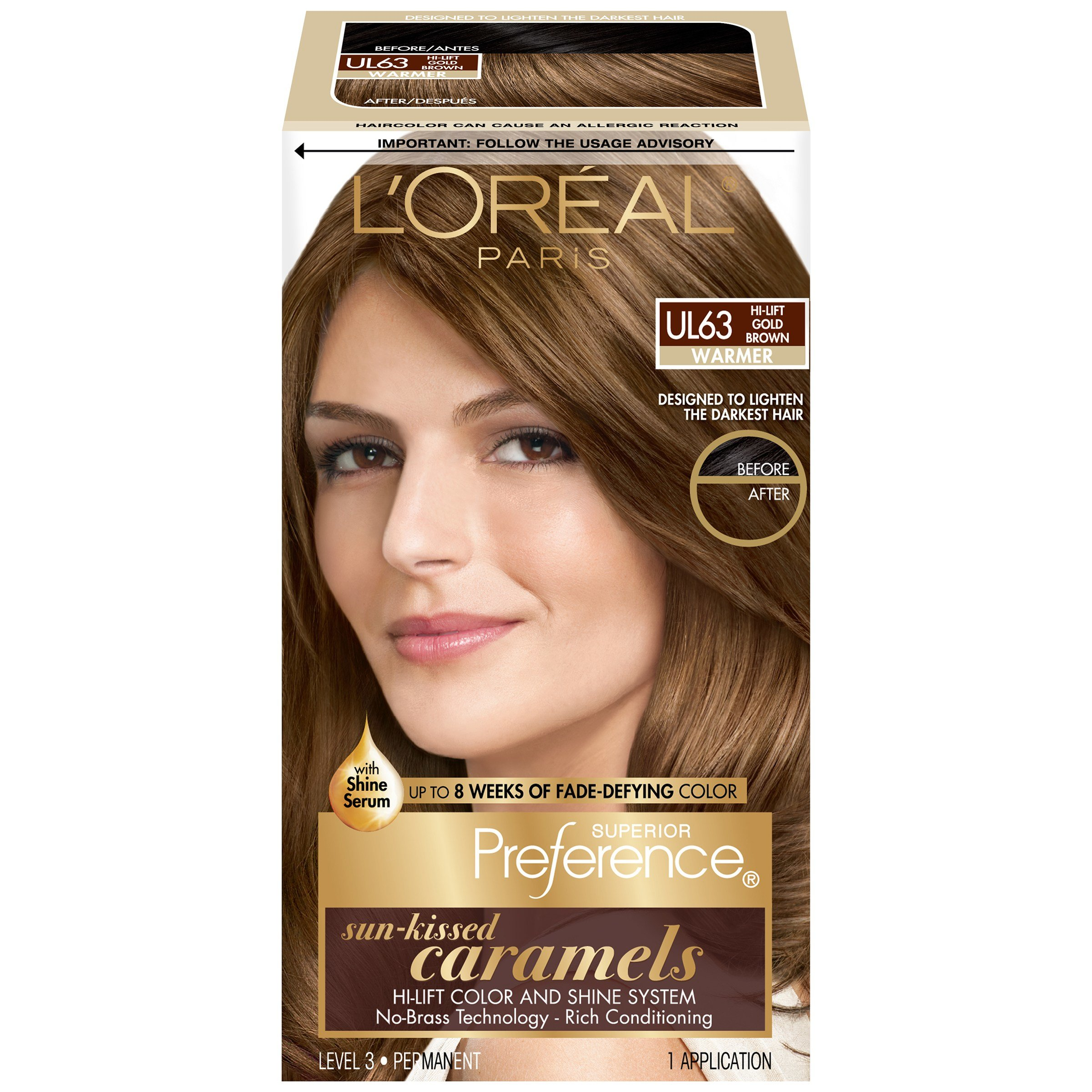 The Best L Oreal Ul63 Warmer Hi Lift Gold Brown Hair Color Box Pictures