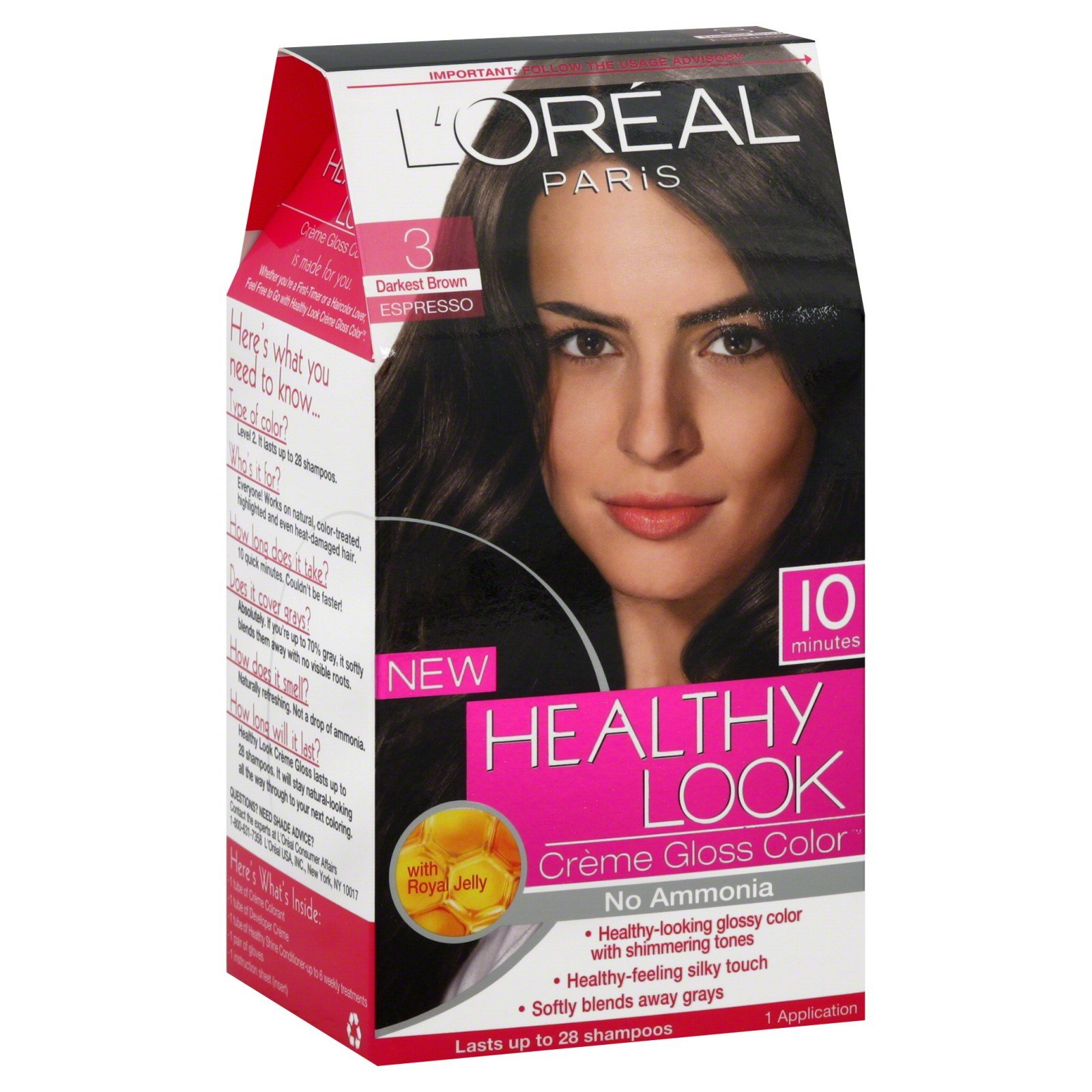 The Best L Oreal Healthy Look Hair Dye Creme Gloss Color Darkest Pictures
