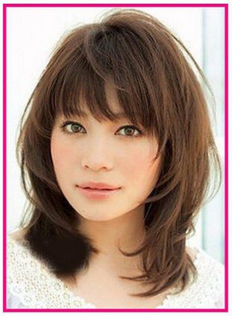 The Best Layered Medium Hairstyles With Bangs Pictures