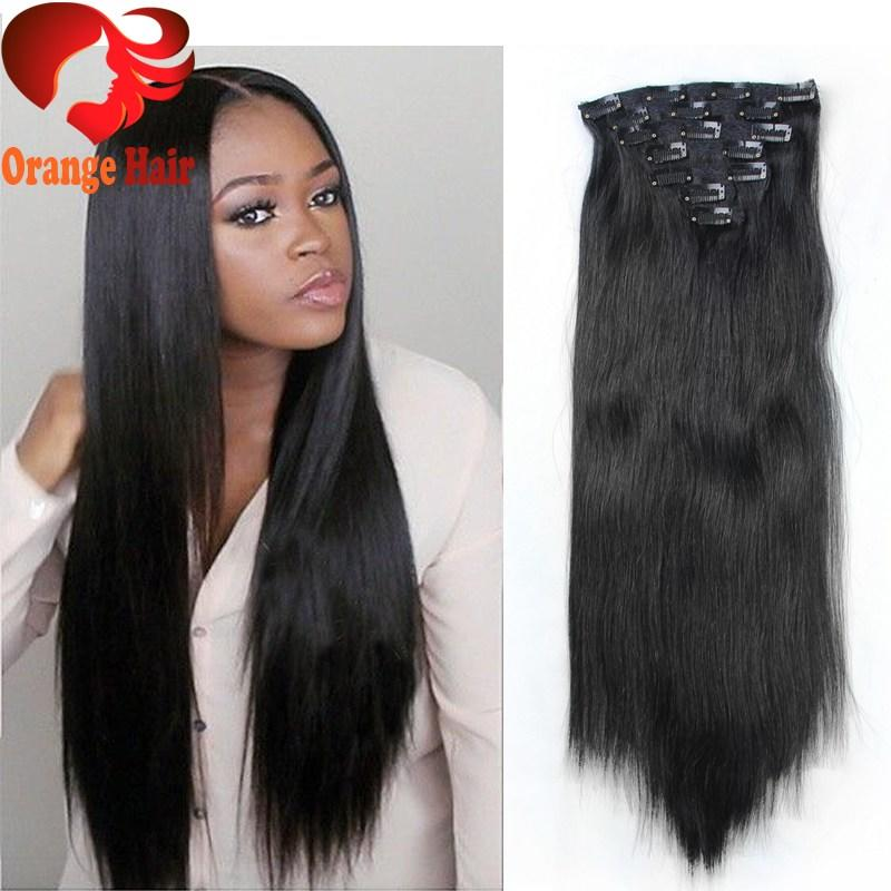 The Best Cheap Silky Straight Remy Human Hair Clip In Extensions Pictures