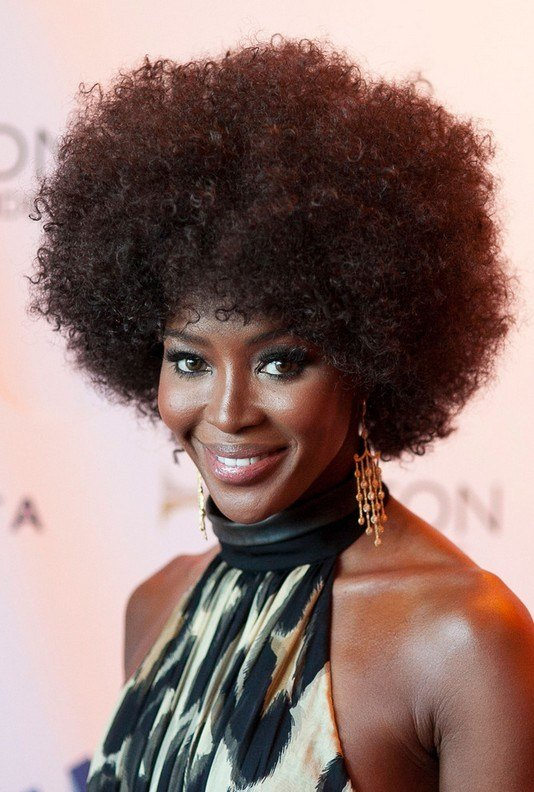 The Best Naomi Campbell 70S Afro Curly Hairstyle For Black Women Pictures