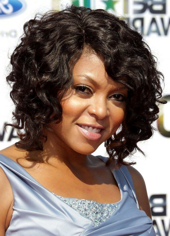 The Best Taraji P Henson Curly Hairstyle For Medium Length Hair Pictures
