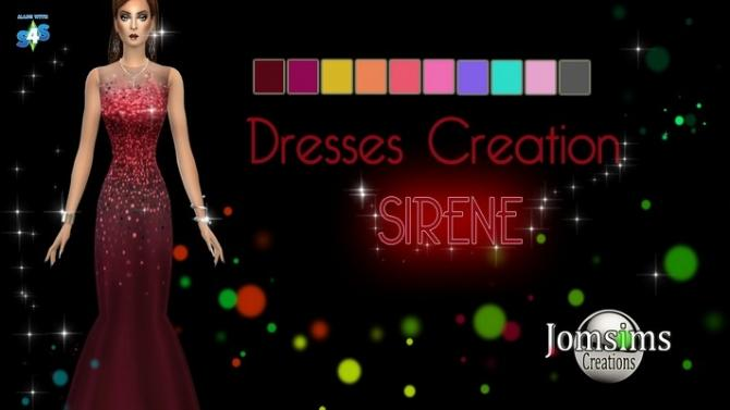 The Best Sirene Dress By Jomsims At Khany Sims » Sims 4 Updates Pictures